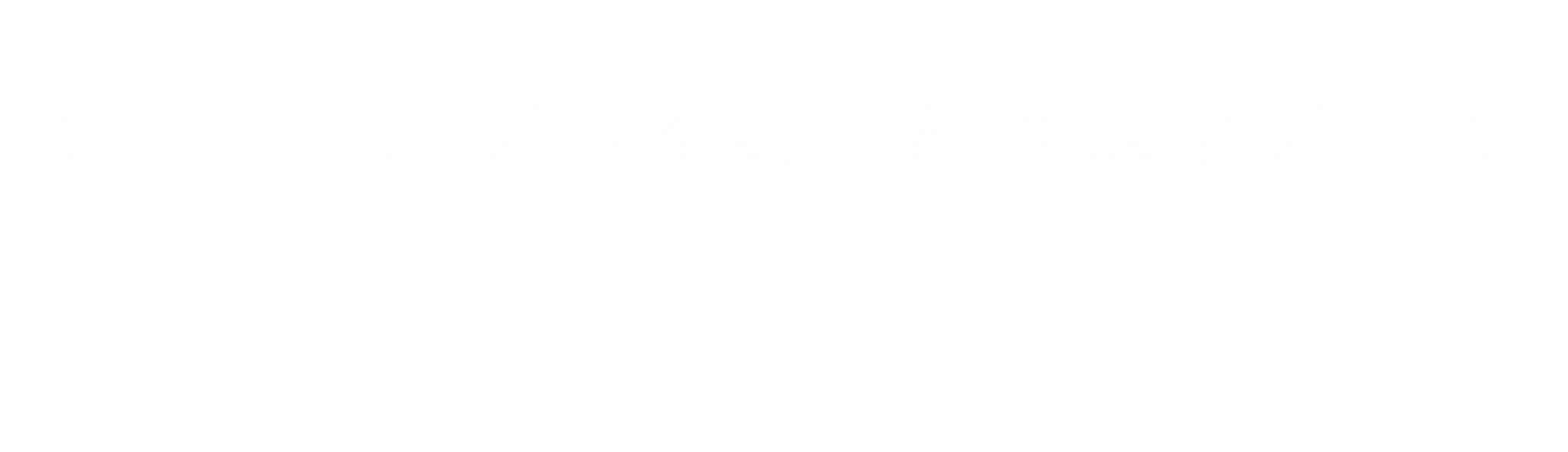 Distinct Accounting Logo White
